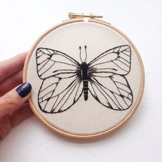 Butterfly embroidery by Mama Mila
