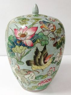 ginger jars   antique chinosoire famille ginger jars hand painted glazed ceramic $ ...