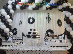 #Decoração #Baladinha preto e branco confira mais alguns trabalhos acessando nossa site ou pagina no facebook www.arteemfotoefestas.com