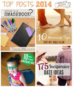 Top Posts for 2014 - parenting, kids crafts, family and more!