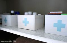 medicine storage in these cute diy painted boxes