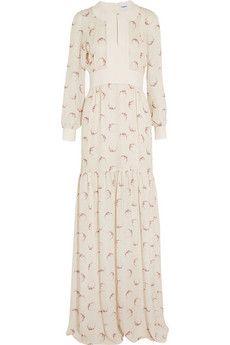 Topshop Unique | Livonia floral-print silk-chiffon maxi dress | NET-A-PORTER.COM