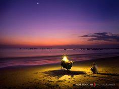 Twilight on Jimbaran Bay, Bali by Rob Dougall on 500px
