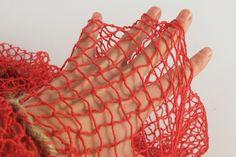 Sieć rybacka dekoracyjna czerwona - morskie klimaty
