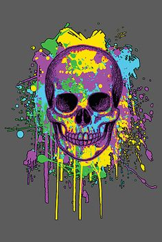 Graphic Splatter Skull by VerisGraphics