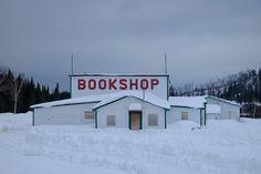 BOOKSHOP, canadian winter - at http://verafelicidade.tumblr.com/post/109661105553/brooklinebooksmith-penguinrandomhouse originally by thecementbeach.tumblr.com