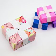 Learn how to make a useful origami accordion box or roll up box! This origami gift box has 4 boxes which open as you unwrap the box, or they can be locked. Origami Gift Box, Cute Origami, Useful Origami, Origami Stars, Diy Origami, Origami Flowers, Origami Paper, A4 Paper, Origami Pumpkin