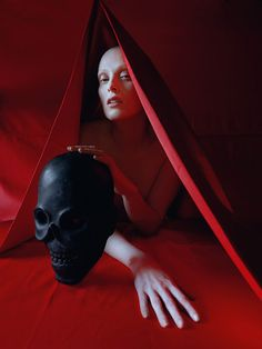 "macabre, ""Karen Elson shot by Tim Walker - Vogue US May 2015"""