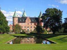 Trolleholm castle in Skåne, Sweden. The oldest parts of the castle dates back to 1538.