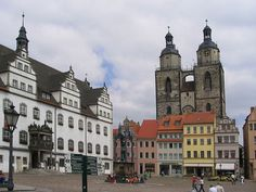 Market place in Wittenberg, Germany.  Go to www.YourTravelVideos.com or just click on photo for home videos and much more on sites like this.