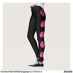 Custom Pink Softball Leggings! #pink #softball #leggings