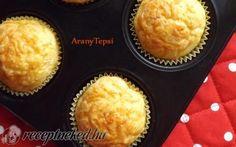 Egyszerű sajtos muffin recept fotóval Muffin, Cornbread, Breakfast, Ethnic Recipes, Food, Millet Bread, Morning Coffee, Muffins, Meal