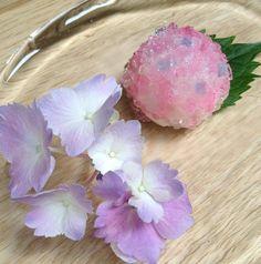 Japanese Sweets, Hydrangea wagashi