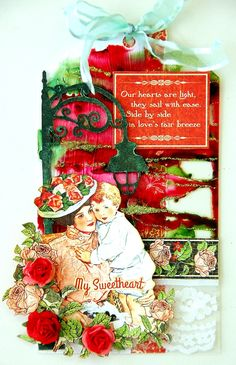 Scrapperlicious: My Sweetheart Tag with tutorial by Irene Tan using Clear Scraps chipboard embellishment, acrylic tag