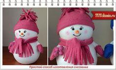 Простой способ изготовления снеговика » Дизайн & Декор своими руками