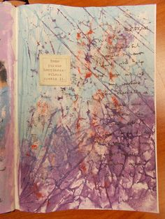 art journal page- image transfer