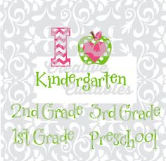 School Preschool Kindergarten apples design for use with Silhouette or other craft cutters (.svg/.dxf/.eps) - pinned by pin4etsy.com