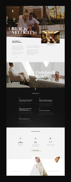 Interactive experience design for Velocity Black online project.