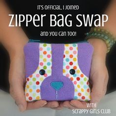 Grab your favorite zipper bag patterns, it's time for another swap with the Scrappy Girls Club. Sign up today to be teamed up with your perfect partner.