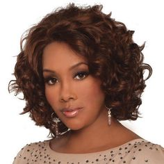 ae0acad0d Chante Lace Front Human Hair Wig by Vivica Fox. Curly Hairstyles, Short ...
