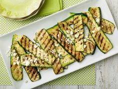Grilled Zucchini with Herb Salt and Feta Recipe