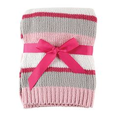 #kidsstore #Hudson #Baby Striped Chenille Blanket is a luxurious and elegant blanket from our premium Hudson Baby collection. Made with bold stripes and chenille ...