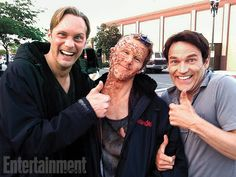 Jason: I'm in so much pain Eric and Bill: Shut up and smile this is for our holiday scrapbook