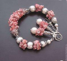 Mermaid chic pink shell mix bead bracelet