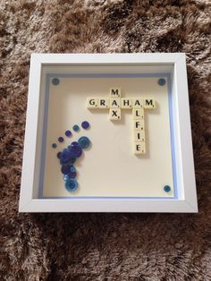 Baby boy scrabble frame.