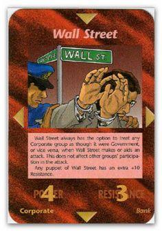Illuminati Card Wall Street