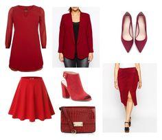 Red Selection by irenemastronardo on Polyvore featuring moda, ASOS Curve, Doublju, Zara and Sole Society