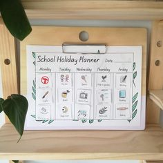 Our Landscape Clipboard © is designed and made to fit over several of our products, from the Pegs of our Peg Shelving System, to Regular Dipped Wall Handles and our S Hook. Kids Planner, School Planner, Holidays With Kids, School Holidays, Holiday Dates, Holiday Planner, Free Printables, Digital Prints, Organization