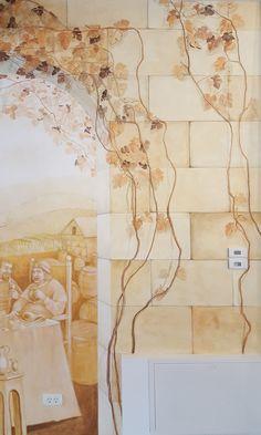 Crama Domnească. Pictură parietală decorativă.7 Ceilings, Floors, Vintage World Maps, Walls, Ceiling, Home Tiles, Flats, Floor, Flooring