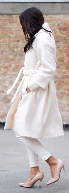 White Woolen Coat - this is gorgeous but I know it wouldn't stay that way!!
