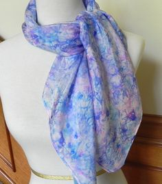 Large Square Silk Scarf Hand Dyed Shades of by RosyDaysScarves, $34.95