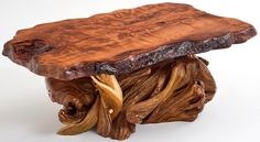 Redwood & Juniper Coffee Table Ornate Base - Item #CT03086 - Custom Sizes Available - No Two are Exactly the Same - Each a Work of Art!