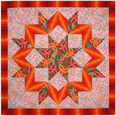 Quick Broken Star - Freckled Lily.  -------------   love this Quilt n love the colors. love how it came out-TD.