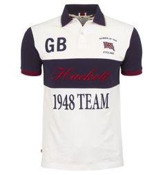 Hackett GB 1948 Team Polo Shirt - Designer Menswear at Hackett Camisa Polo, Fashion Wear, Mens Fashion, Polo Shirt Design, Ralph Lauren Style, Surf Wear, Men Street, Shirt Designs, Designer Menswear