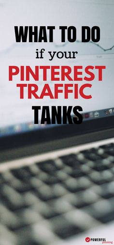 Pinterest Marketing: Learn 5 steps to take when your Pinterest traffic drops! A must read for any blogger who gets most-or a lot- of their traffic from Pinterest.