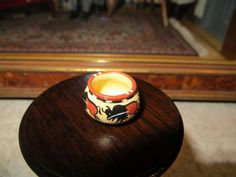 Dollhouse Miniature Artisan Rainbow Hand Signed Native American Style Bowl