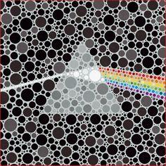 Blot. www.pinkfloyd.com #DarkSide40 Design : Storm Thorgerson (Storm Studios) (c) Pink Floyd(1987) Ltd/Pink Floyd Music Ltd.
