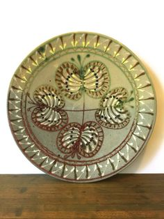 Large Mid Century Art pottery Plate Wall by VintageParamour