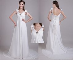 Greek Goddess White Long Prom Dresses With Tie Strap V-neck Tie Up Homecoming Dresses Tie Up Back Formal Dresses Bow Tie Formal Dresses