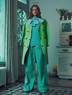 Sofia Sanchez & Mauro Mongiello green fashion