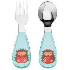 Set tenedor y cuchara de acero inoxidable Erizo Skip Hop
