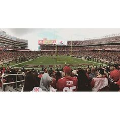 I had so much fun at the Niner game today