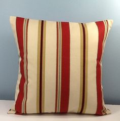 French stripe throw pillow. Waverly pillow by sterlingstitchery