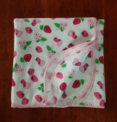 Receiving baby blanket  Single Layered flannel by ohSEWcuddly