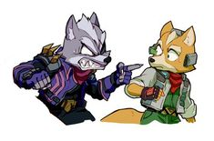 Wolf & Fox (Quit ripping off my look! Super Smash Bros, Star Fox Video Game, Game Character, Character Design, Fox Mccloud, Really Cool Drawings, Fox Games, Fox Pictures, Furry Comic