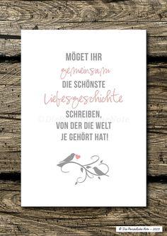 Druck/Wandbild/Print: Liebesgeschichte (Hochzeit) von Die Persönliche Note auf DaWanda.com